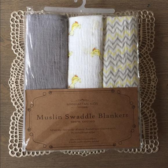 "NEW Baby Swaddle Blanket 100/% Cotton 40""X40"" Sleeping Swaddle Muslin Wrap NWT"
